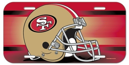 San Francisco 49ers License Plate - 3208584087 - Nfl Football San Francisco 49ers License Plates Frames 3208584087