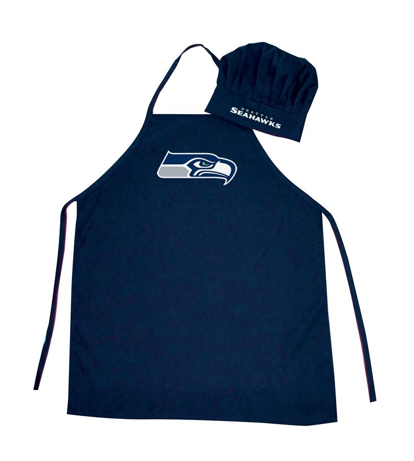 Seattle Seahawks Apron And Chef Hat Set - 5717524086 - Nfl Football Seattle Seahawks Aprons 5717524086