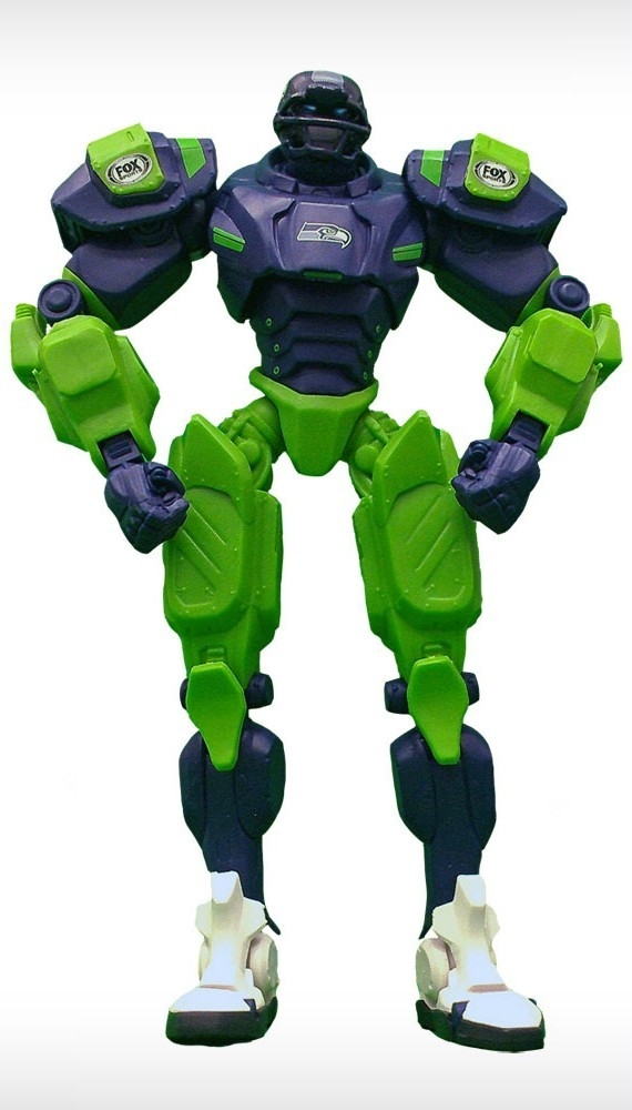 Seattle Seahawks Fox Sports Robot - 1263301755 - Nfl Football Seattle Seahawks Robots Figurines 1263301755