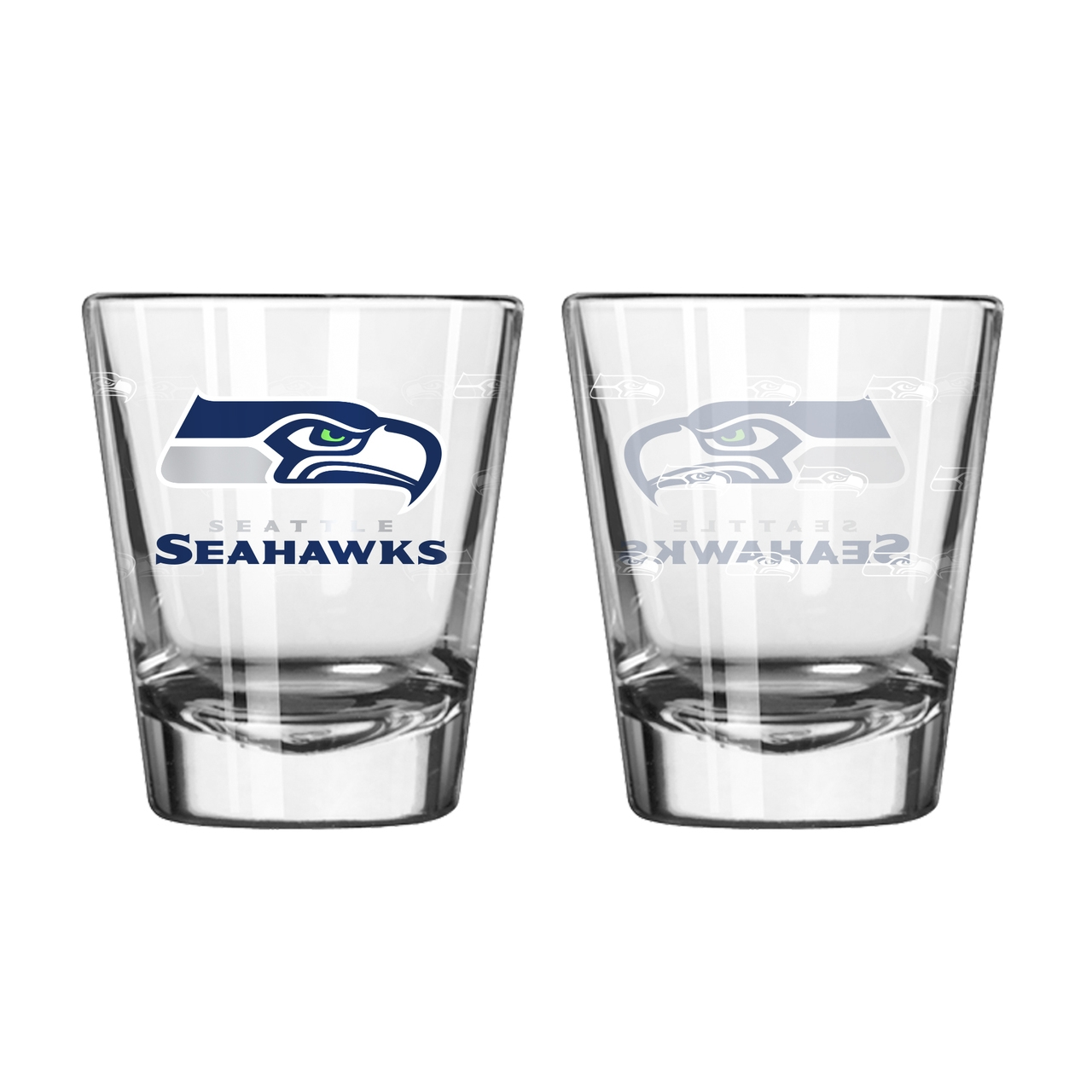 Seattle Seahawks Shot Glass-2 Pack Satin Etch - 8886024841 - Nfl Football Seattle Seahawks Shot Glasses 8886024841