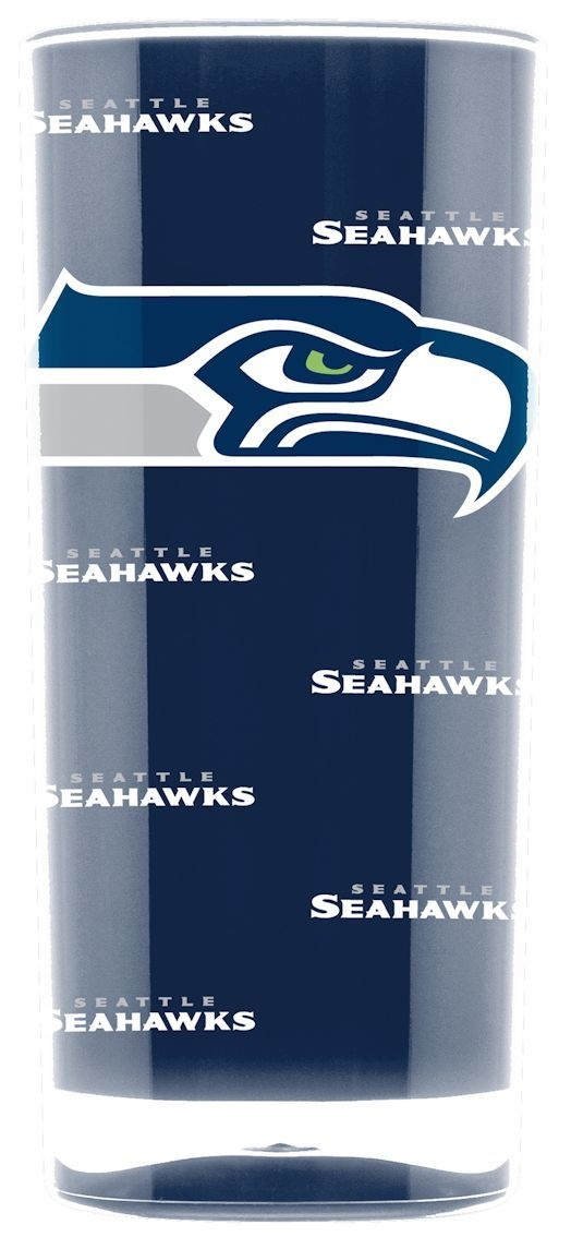 Seattle Seahawks Tumbler-square Insulated (16oz) - 9413103010 - Nfl Football Seattle Seahawks Tumblers And Pint Glasses 9413103010