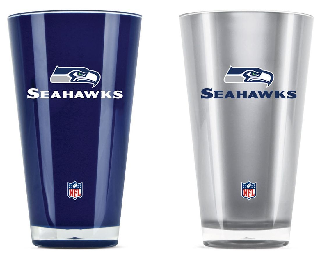 Seattle Seahawks Tumblers-set Of 2 (20 Oz) - 9413101601 - Nfl Football Seattle Seahawks Tumblers And Pint Glasses 9413101601