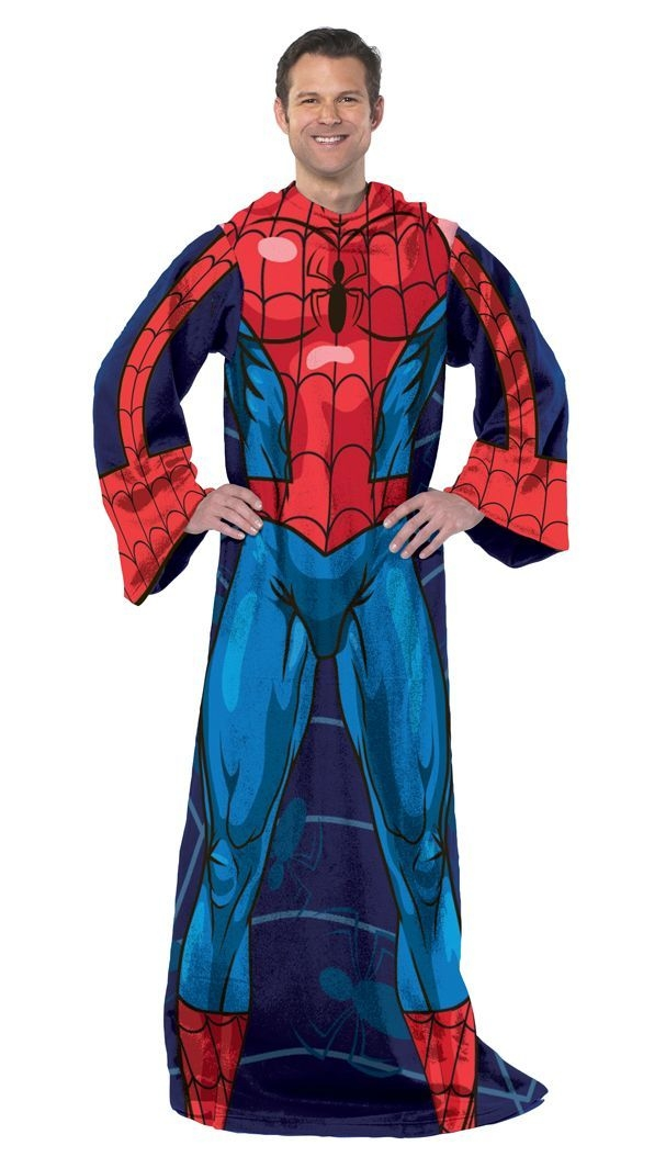 Spiderman Comfy Throw-blue On Blue Design - 8791849229 - Ncaa College Rhode Island School Of Design Risd Nads Comfy Throws 8791849229