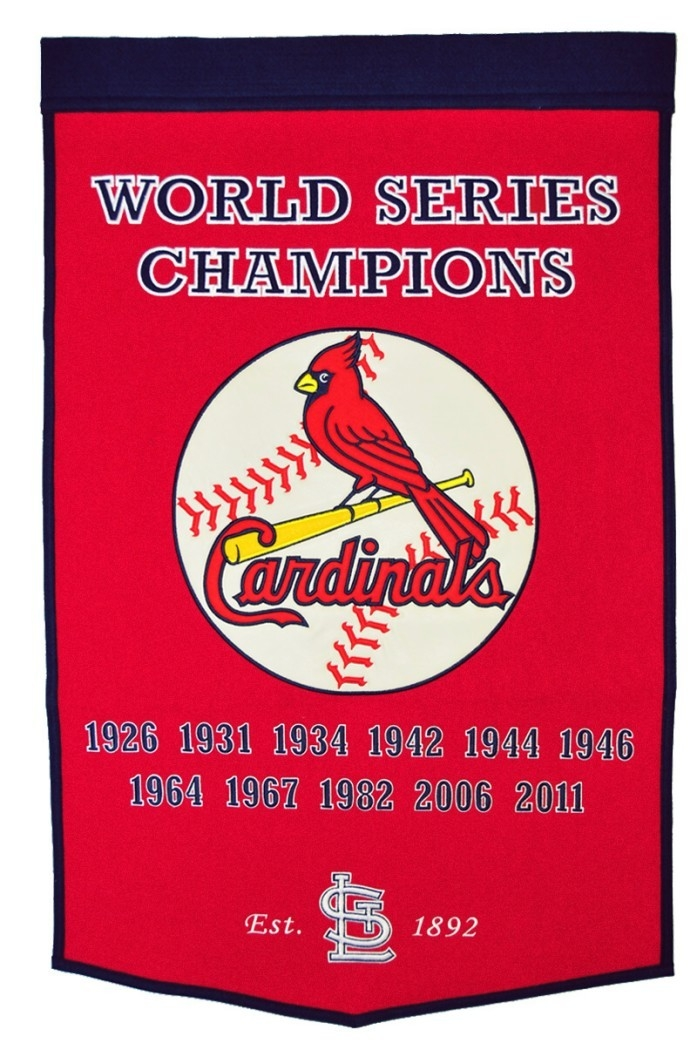 St. Louis Cardinals Banner 24x36 Wool Dynasty - 7408876130 - Mlb Baseball St Louis Cardinals Banners 7408876130