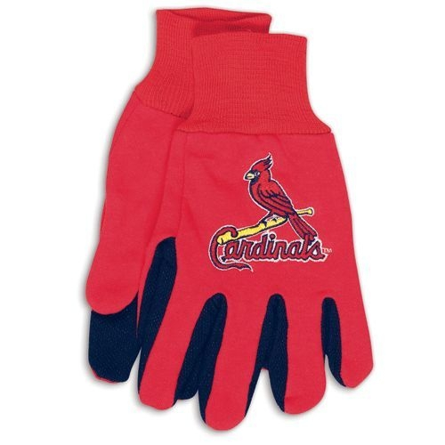 St. Louis Cardinals Two Tone Gloves-adult Size - 9960694083 - Mlb Baseball St Louis Cardinals Gloves 9960694083