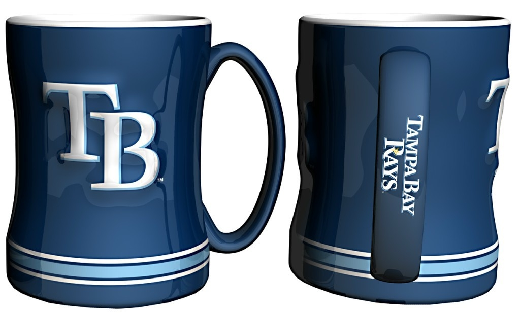 Tampa Bay Rays Coffee Mug-14oz Sculpted Relief - 4675710431 - Mlb Baseball Tampa Bay Rays Coffee Mugs 4675710431