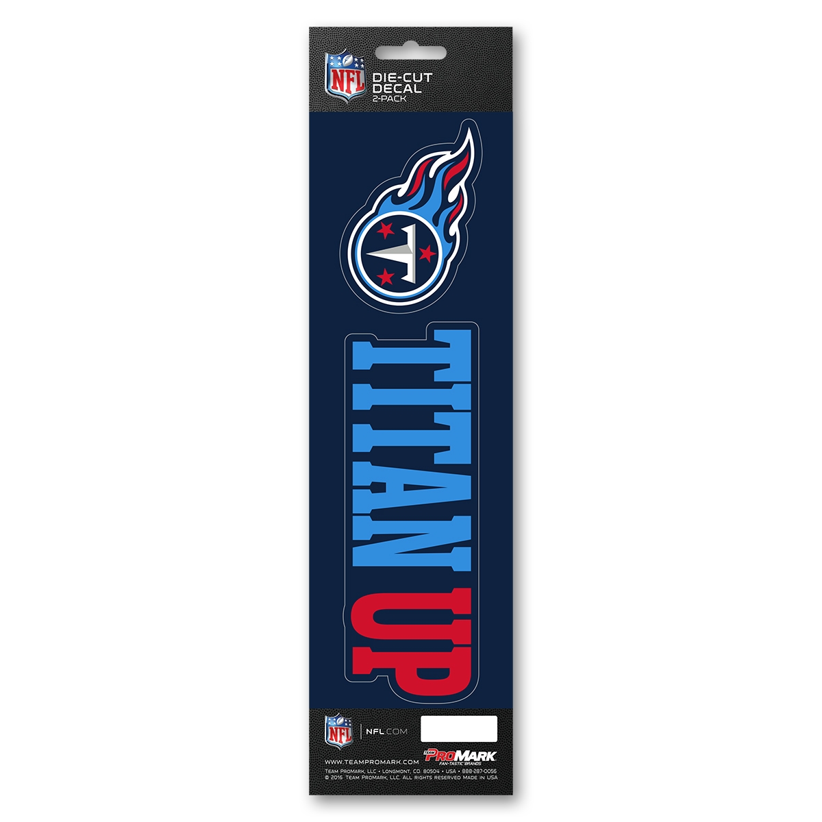 Tennessee Titans Decal Die Cut Slogan 2 Pack - 8162029130 - Nfl Football Tennessee Titans Decals 8162029130