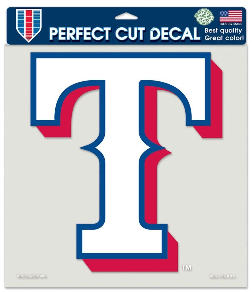 Texas Rangers Decal 8x8 Die Cut Color - 3208579941 - Mlb Baseball Texas Rangers Decals 3208579941