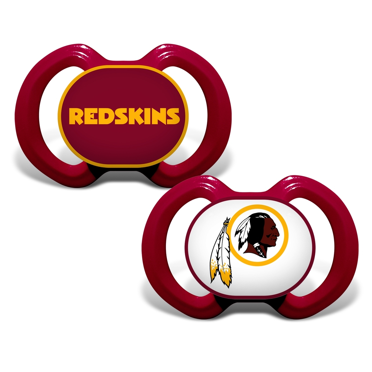 Washington Redskins Pacifier-2 Pack - 1740702245 - Nfl Football Washington Redskins Baby Fan Gear 1740702245