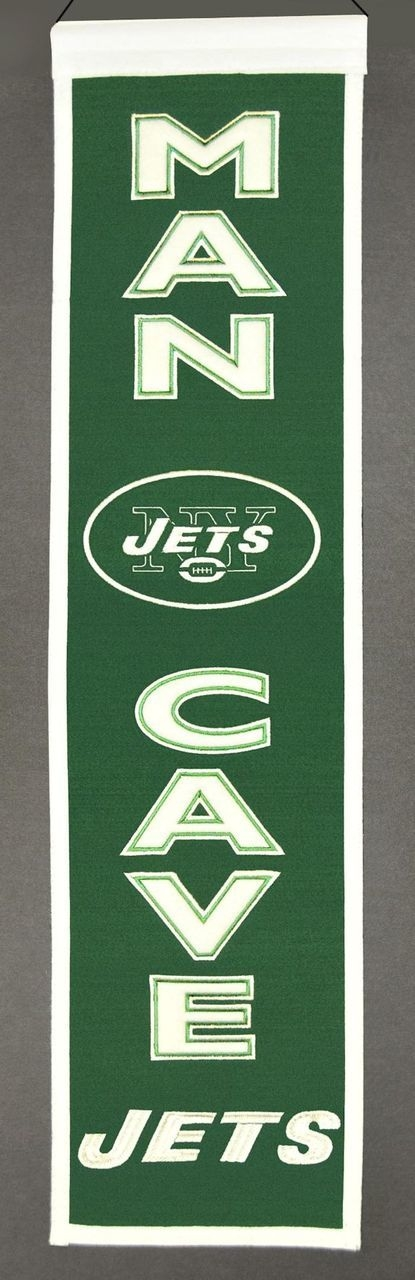New York Jets Banner Wool Man Cave - 7408849174 - Nfl Football New York Jets Banners 7408849174