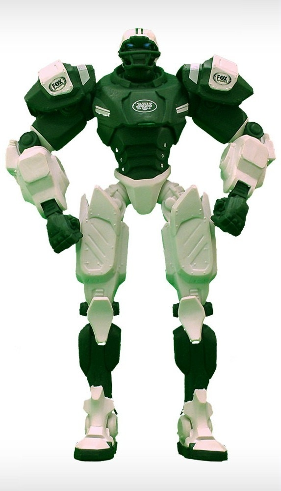 New York Jets Fox Sports Robot - 1263301743 - Nfl Football New York Jets Robots Figurines 1263301743