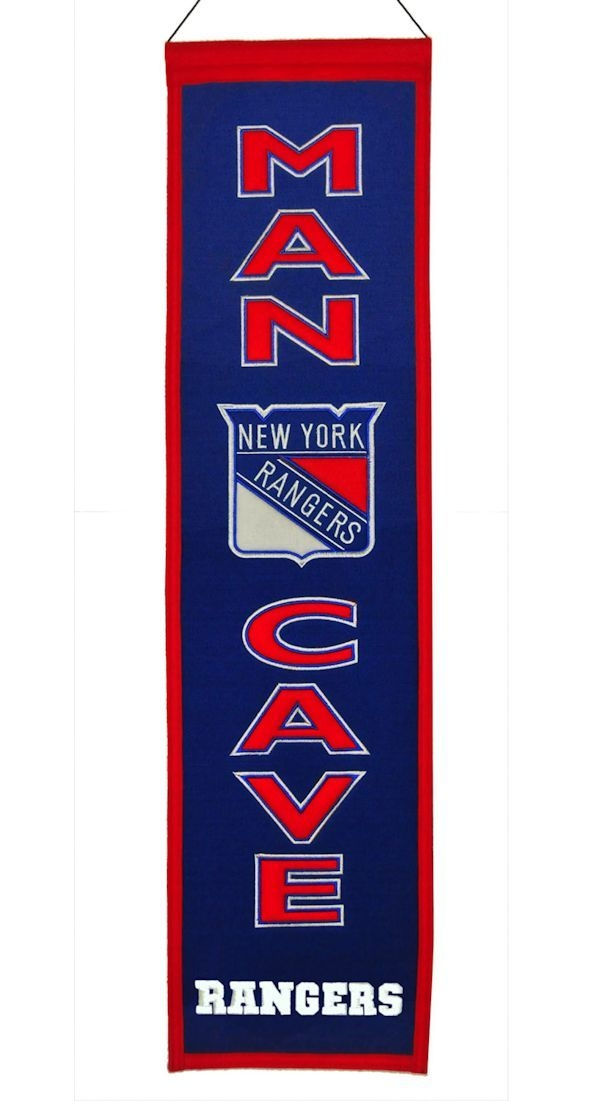 New York Rangers Banner Wool Man Cave - 7408849254 - Nhl Hockey New York Rangers Banners 7408849254