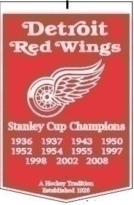 Detroit Red Wings Banner - 78000 - Nhl Hockey Detroit Red Wings Banners 78000