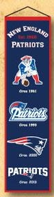 New England Patriots Heritage Banner - 44030 - Nfl Football New England Patriots Banners 44030