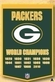 Nfl Football Green Bay Packers Banners - 77010 - Green Bay Packers Banner 77010