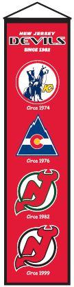 Nhl Hockey New Jersey Devils Banners - 47032 - New Jersey Devils Heritage Banner 47032