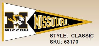 Ncaa College Missouri Southern State University Mssu Lions Indoor Home Office Pennants - 53170 - Missouri; University Of - Mascot 53170