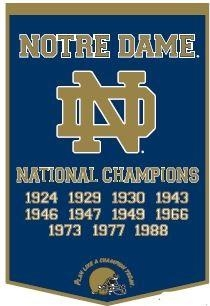 Notre Dame Banner - 76020 - Ncaa College Notre Dame Nd Fighting Irish Banners 76020