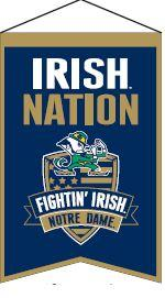 Notre Dame Nations Banner - 30015 - Ncaa College Notre Dame Nd Fighting Irish Banners 30015