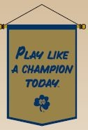 Notre Dame Plact Traditions Banner - 64237 - Ncaa College Notre Dame Nd Fighting Irish Banners 64237
