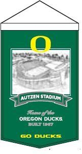 Oregon Autzen Stadium Banner - 80707 - Ncaa College Oregon Ore Ducks Banners 80707