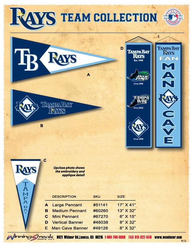 Tampa Bay Rays - 51141 - Mlb Baseball Tampa Bay Rays Pennants 51141