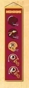 Nfl Football Washington Redskins Banners - 44005 - Washington Redskins Heritage Banner 44005