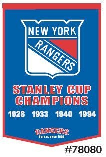 Nhl Hockey New York Rangers Banners - 78080 - New York Rangers Banner 78080