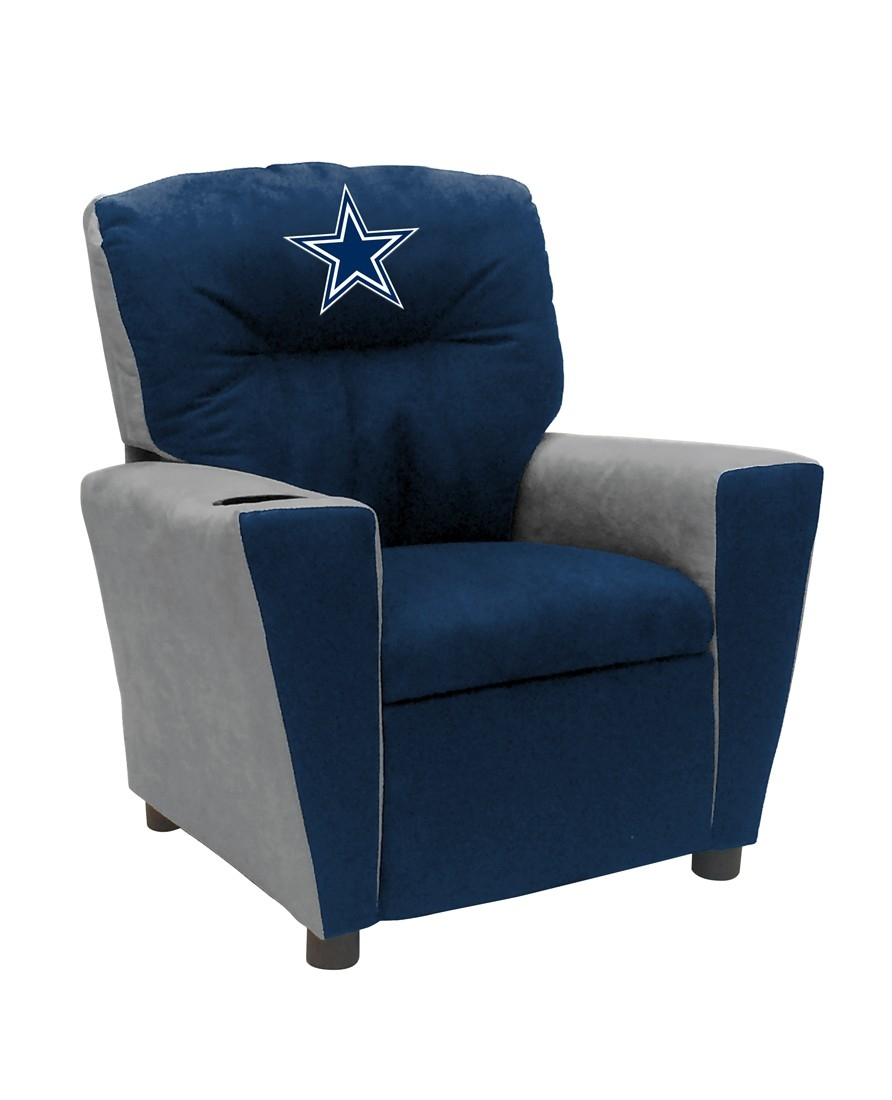 Dallas Cowboys Fan Favorite Recliner; Kids - 122-1002 - Nfl Football Dallas Cowboys Kids Dish Sets 122-1002