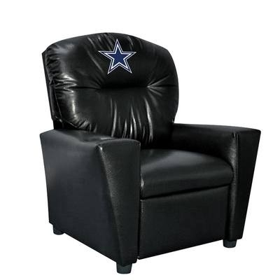 Dallas Cowboys Kids Faux Leather Recliner - 107-1002 - Nfl Football Dallas Cowboys Kids Dish Sets 107-1002