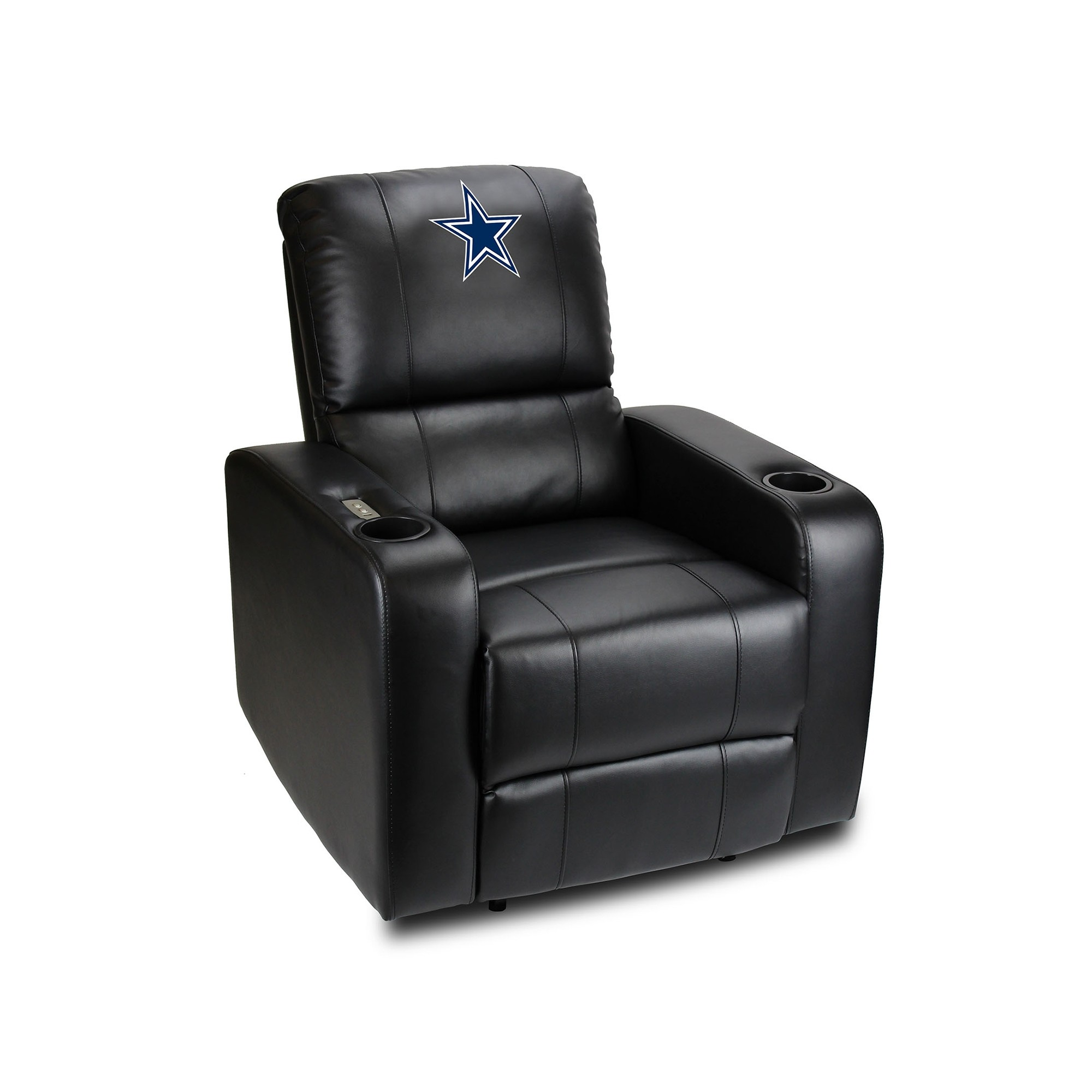 Dallas Cowboys Power Theater Recliner With Usb Port - 117-1002 - Nfl Football Dallas Cowboys Powerdecals 117-1002