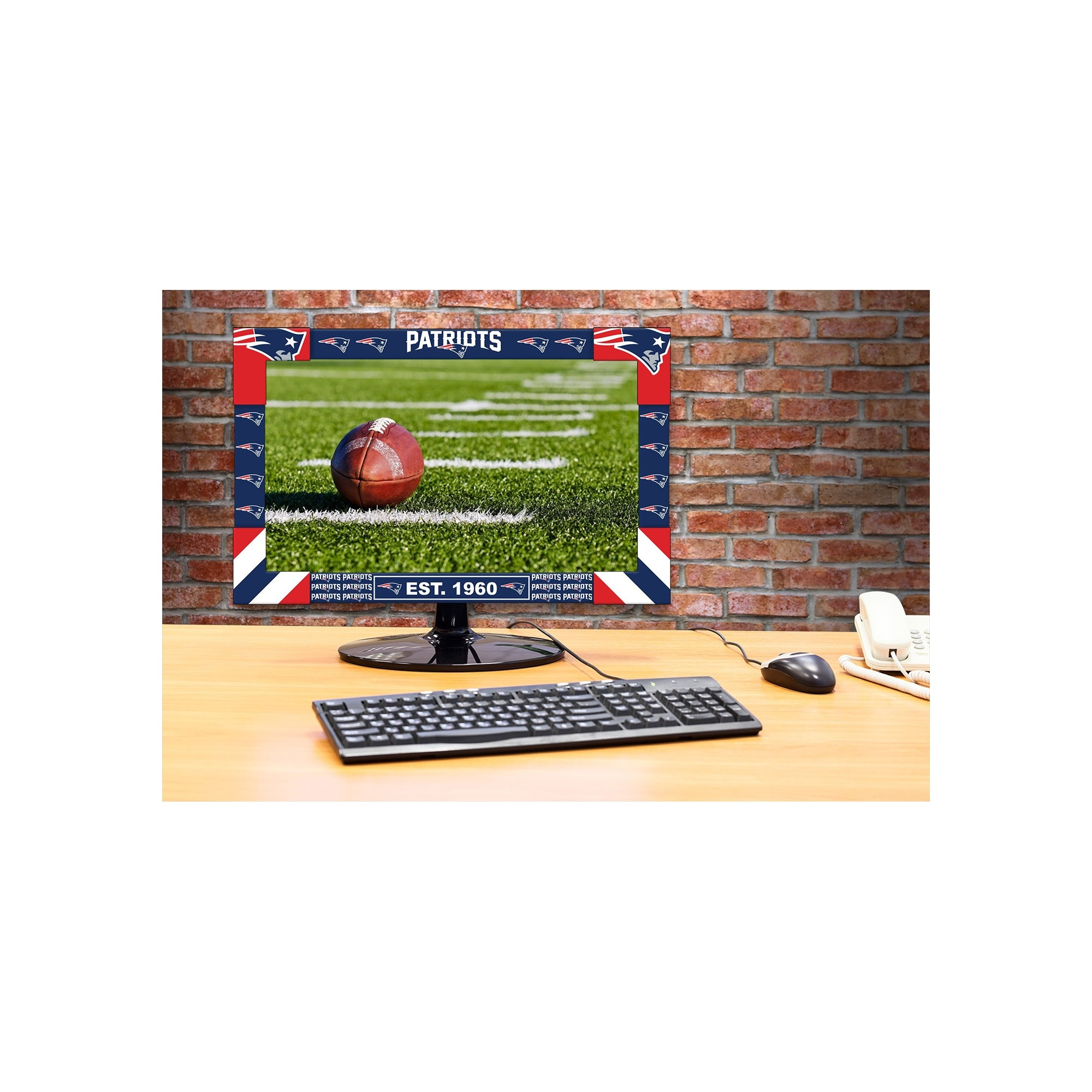 Nfl Football New England Patriots Toys Games Puzzles Games - 176-1011 - New England Patriots Big Game Monitor Frame 176-1011