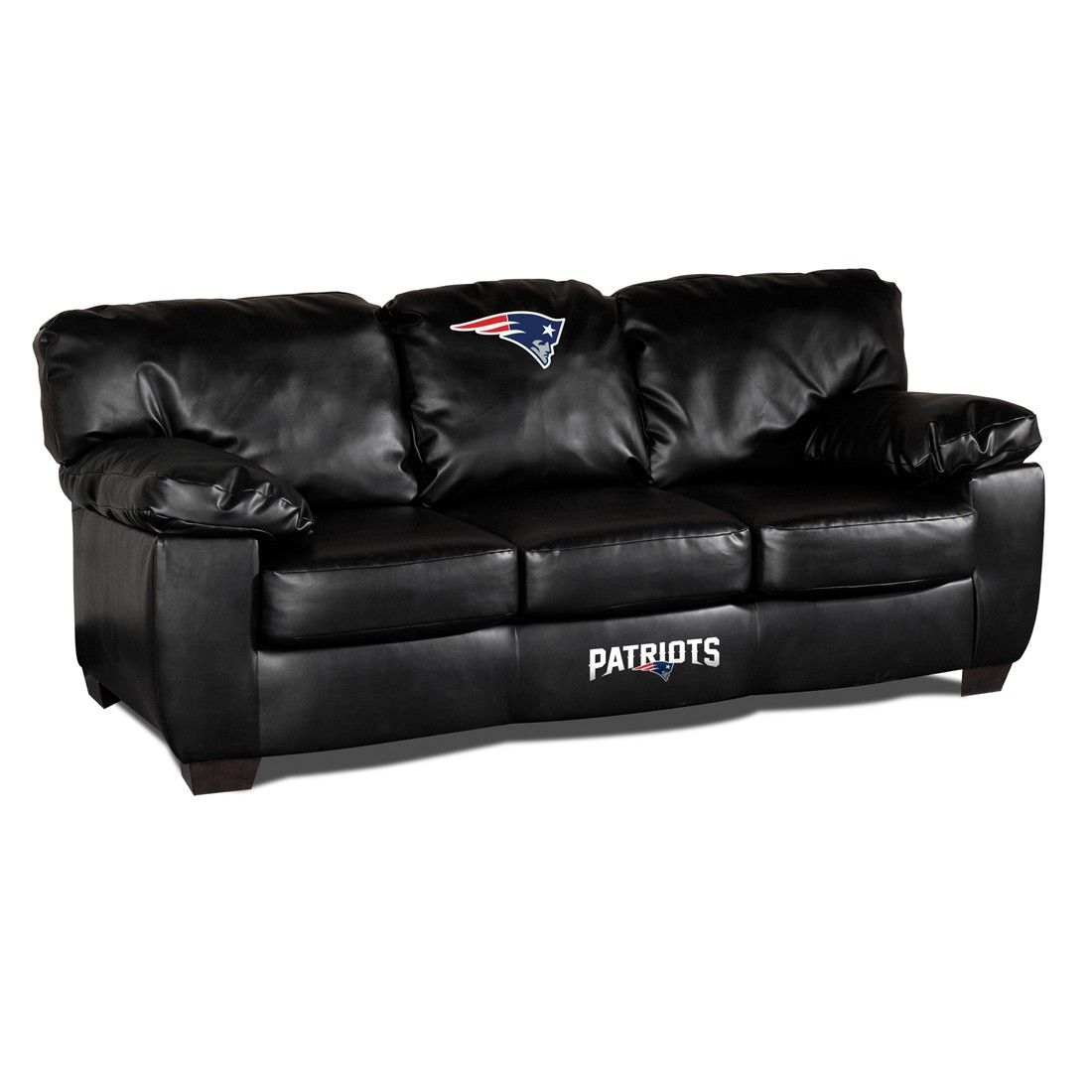 New England Patriots Classic Leather Sofa - 79-4011 - Nfl Football New England Patriots Bath 79-4011