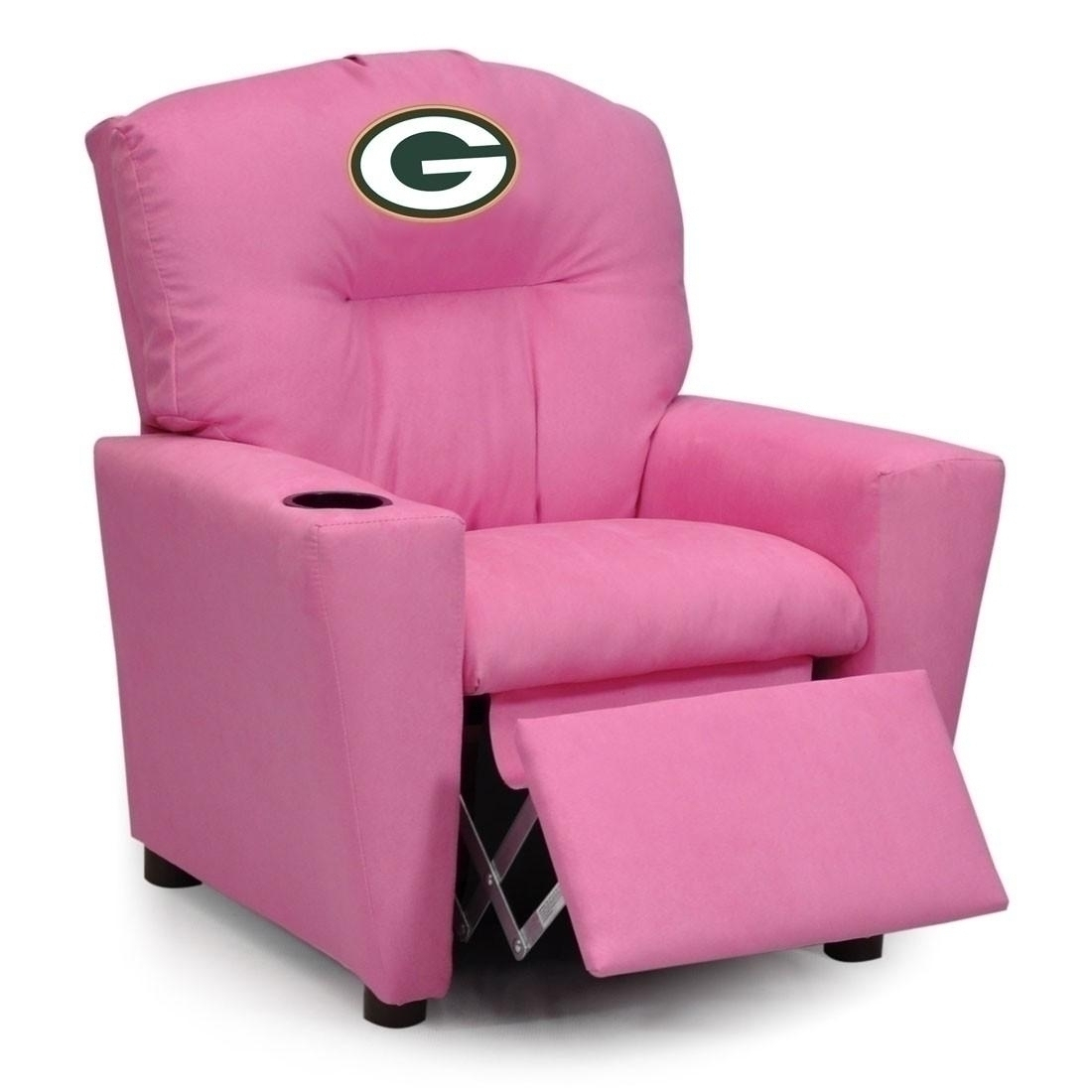Nfl Football Green Bay Packers Kids Dish Sets - 122-1101 - Green Bay Packers Kids Pink Recliner 122-1101
