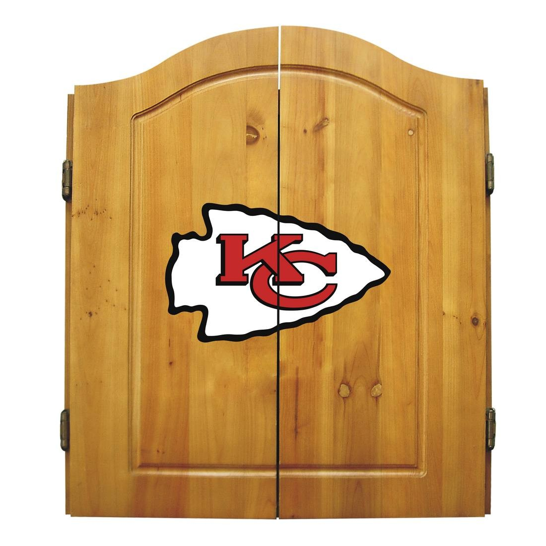 Kansas City Chiefs Dart Cabinet Set - 20-1006 - Nfl Football Kansas City Chiefs Bbq Sets 20-1006