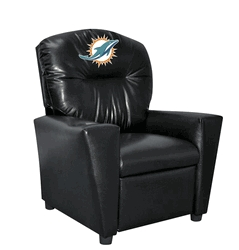 Nfl Football Miami Dolphins Kids Dish Sets - 107-1008 - Miami Dolphins Kids Faux Leather Recliner 107-1008