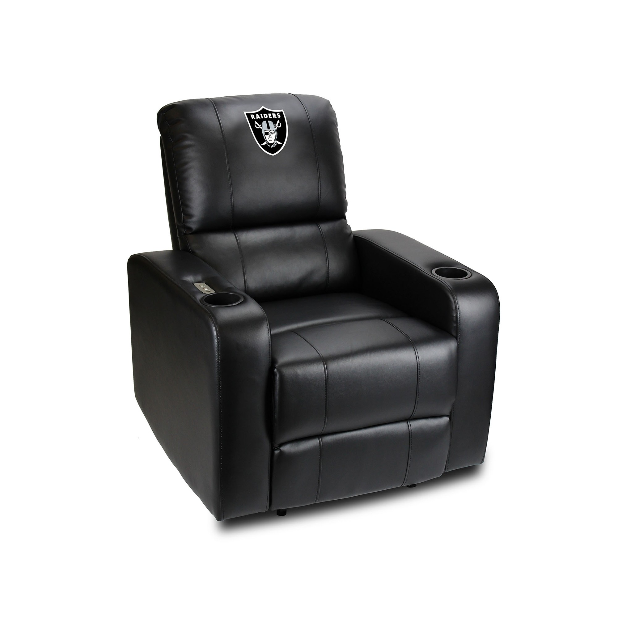 Oakland Raiders Power Theater Recliner With Usb Port - 117-1010 - Nfl Football Oakland Raiders Powerdecals 117-1010