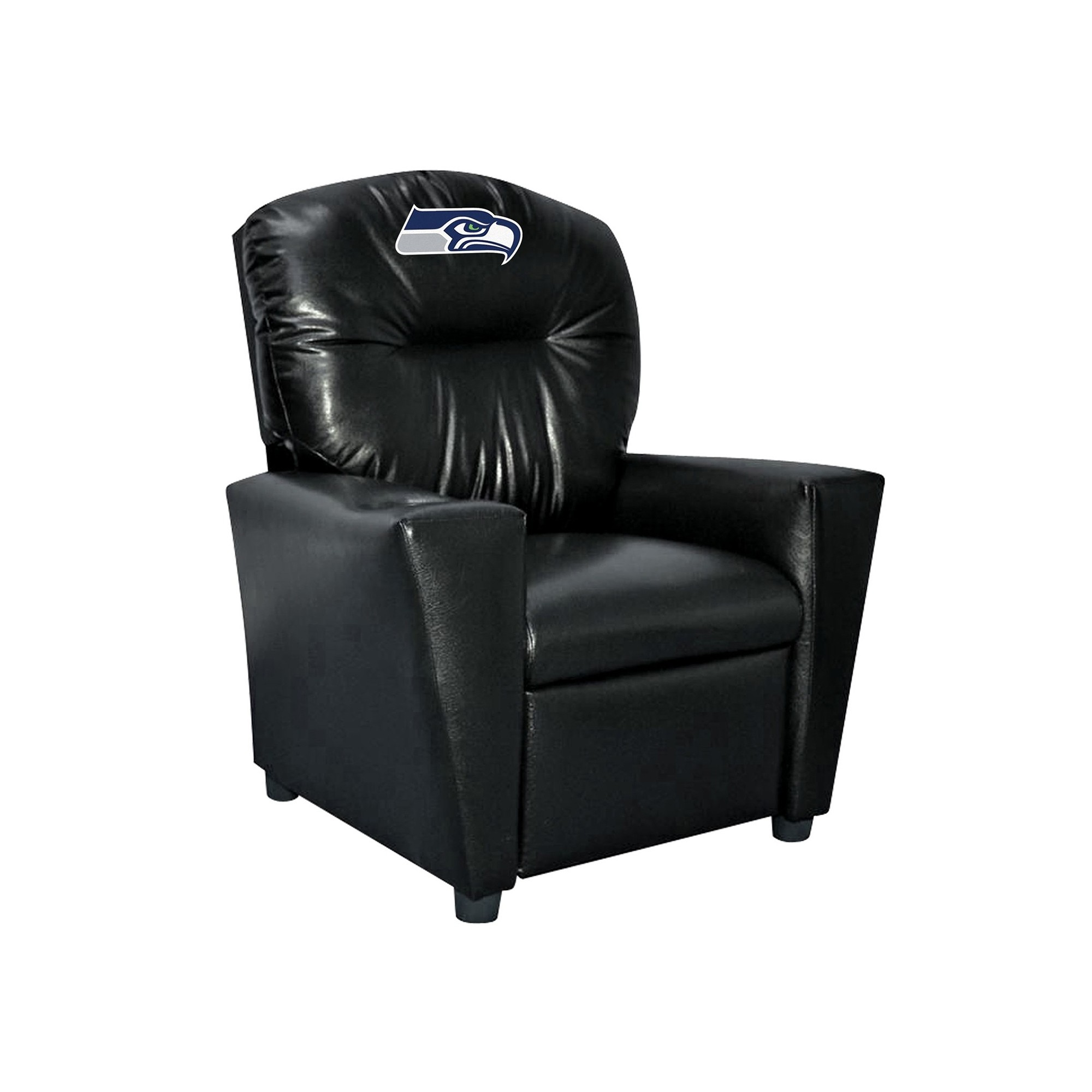 Seattle Seahawks Kids Faux Leather Recliner - 107-1024 - Nfl Football Seattle Seahawks Kids Dish Sets 107-1024