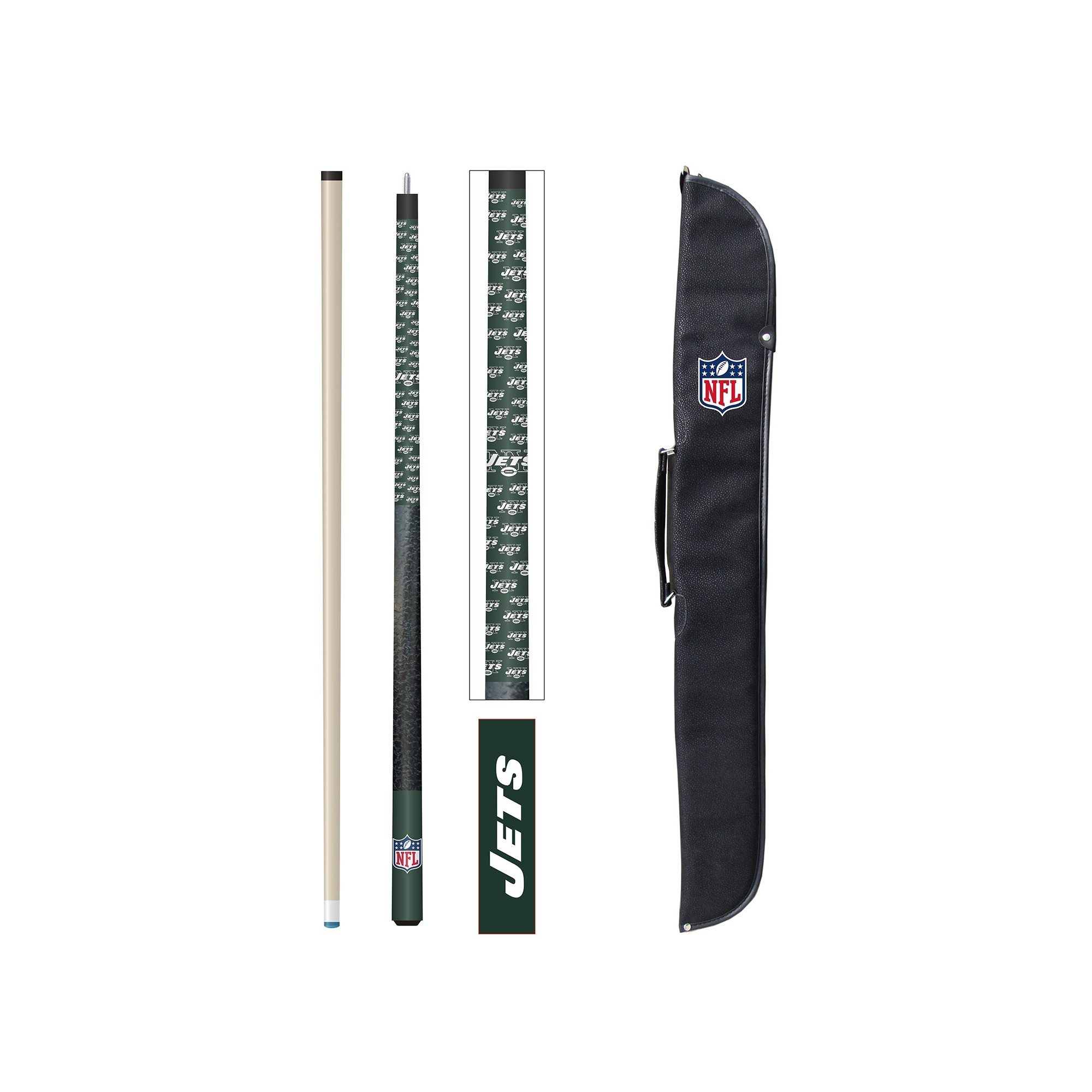 Nfl Football New York Jets Cases - 72-1012 - New York Jets Cue And Case Set 72-1012