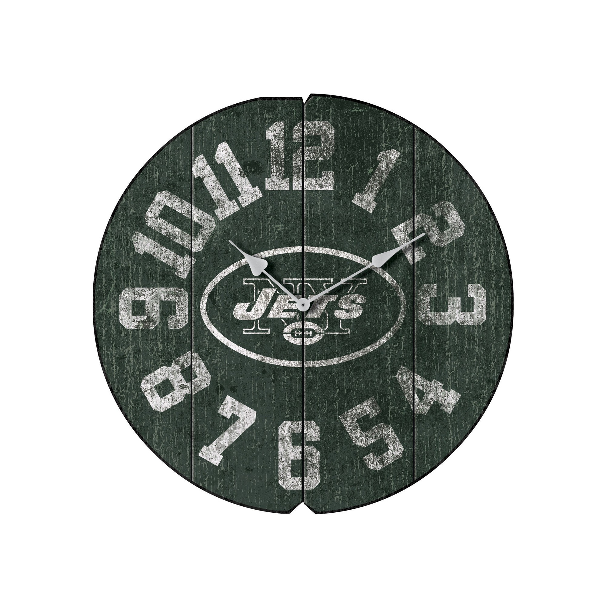 Nfl Football New York Jets Clocks - 172-1012 - New York Jets Vintage Round Clock 172-1012