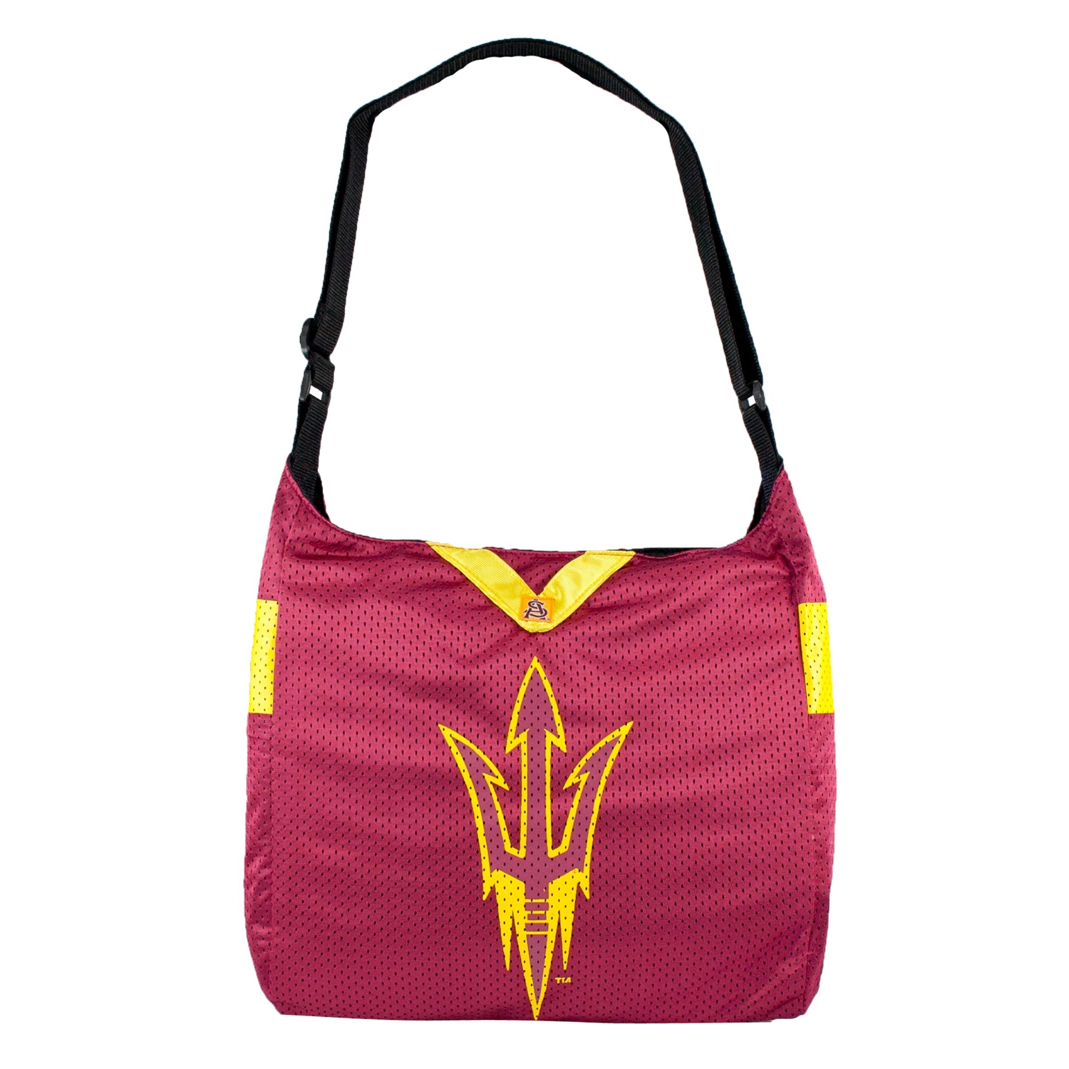 Arizona State University Team Jersey Tote - 100101-asu-1 - Ncaa College Womens Teams Of Claremont Mudd Scripps Are The Athenas Stags Purses Wristlets Totes 100101-ASU-1