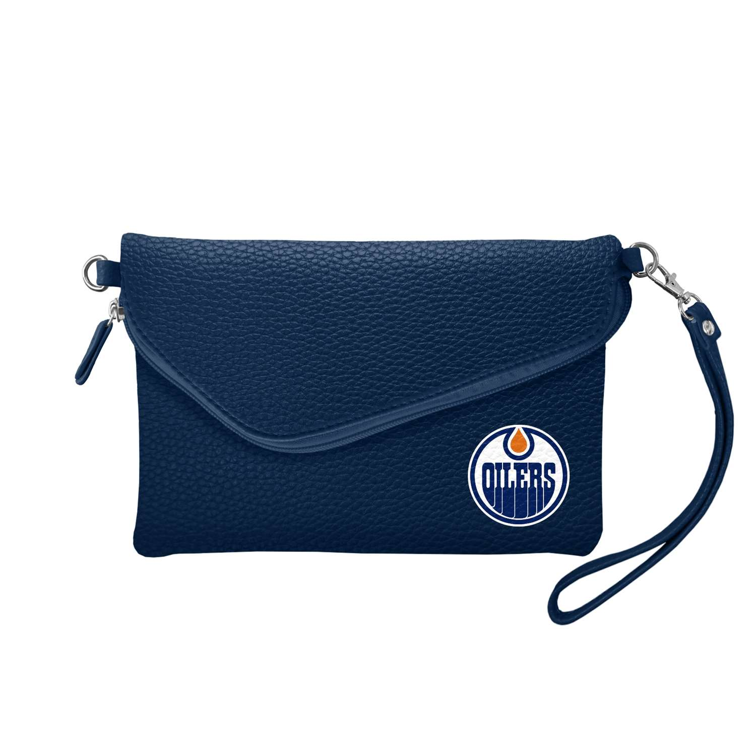 Nhl Hockey Edmonton Oilers Bath - 500432-oilr-navy - Edmonton Oilers Fold Over Crossbody Pebble 500432-OILR-NAVY