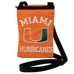 Miami Hurricanes Game Day Pouch - 100103-umia - Handbags; Wallets Cases Ncaa U Of 100103-UMIA