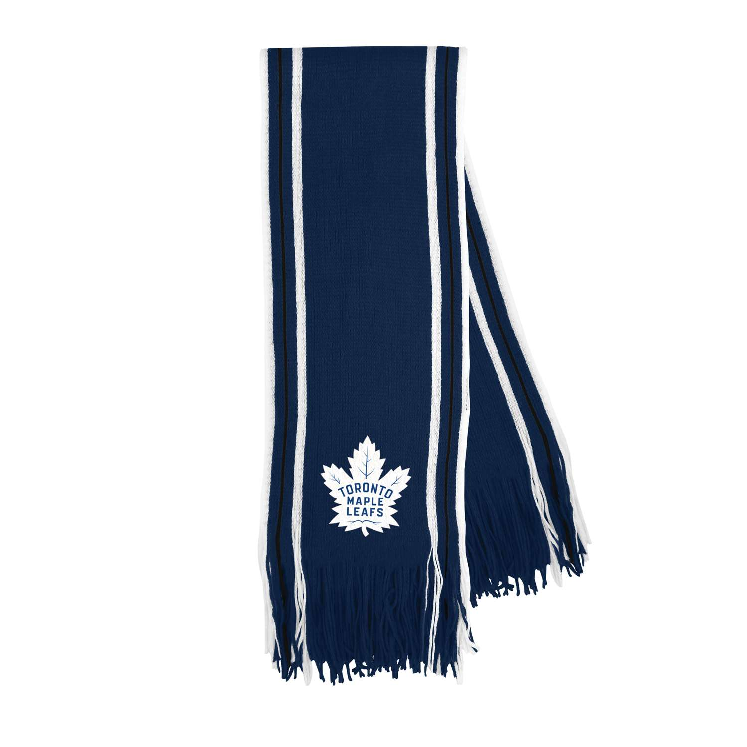 Hockey Nhl Hockey Toronto Maple Leafs Scarves - 500637-leaf - Toronto Maple Leafs Stripe Fringe Scarf 500637-LEAF