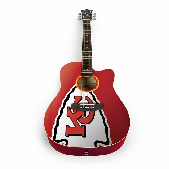 Nfl Football Kansas City Chiefs Bags Sleeves - Acnfl16 - Kansas City Chiefs Acoustic Guitar ACNFL16