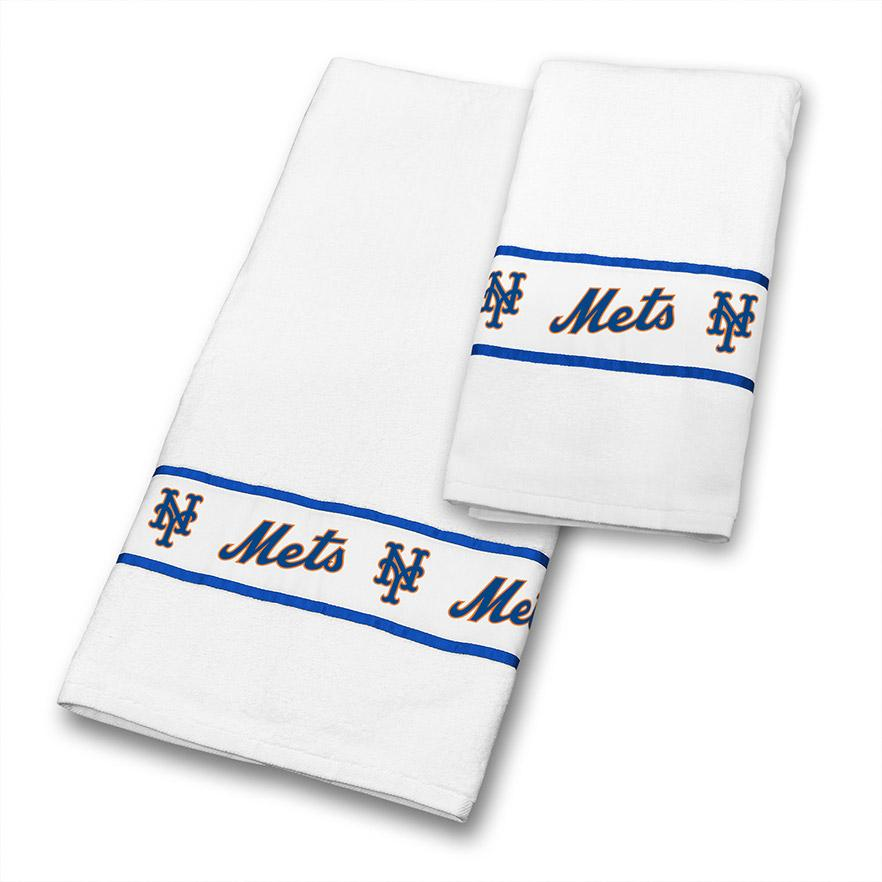 Towel Set Mets - White - 03cttws3metsets - Mlb Baseball New York Mets Kitchen Dining Tumblers And Pint Glasses 03CTTWS3METSETS