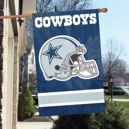 Dallas Cowboys Appliqu Banner Flag - Afda - Nfl Football Dallas Cowboys Banners AFDA