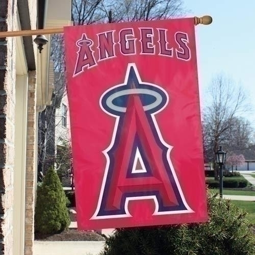 Mlb Baseball Los Angeles Angels Of Anaheim Indoor Home Office Banners - Afang - Los Angeles Angels Appliqu Banner Flag AFANG