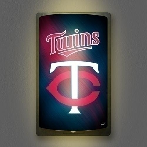 "Minnesota Twins Motiglow"" Light Up Sign - Mgmin - Mlb Baseball Minnesota Twins Plastic Parking Sign MGMIN"