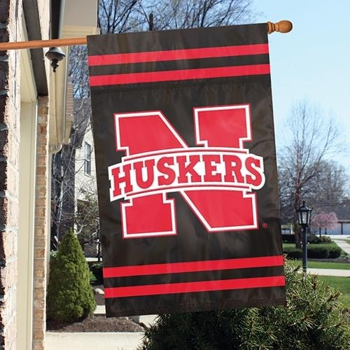 Ncaa College Nebraska Neb Cornhuskers Indoor Home Office Banners - Afneb - Nebraska Cornhuskers Appliqu Banner Flag AFNEB